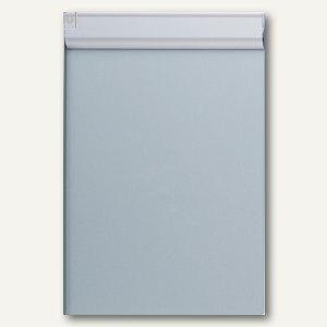 MAUL Schreibplatte Aluminium mit Anschlagkante, DIN A4, silber, 2362195