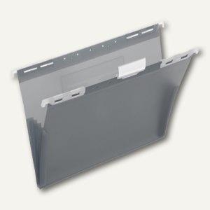 FolderSys PP-Hängemappe, CD Tasche innen, dunkelanthrazit, 20 Stück, 70045-34
