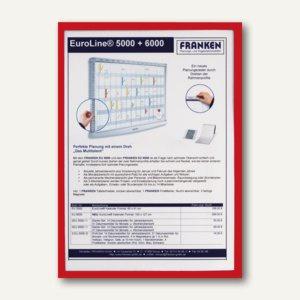 Franken Magnet-Tasche FRAME IT X-tra!Line, DIN A4, magnethaftend, rot, ITSA4M 01