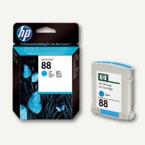 HP Tintenpatrone Nr.88, normale Kapazität, 10 ml, cyan, C9386AE