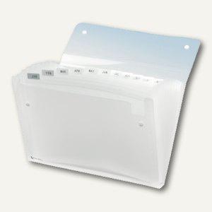 Rexel Fächermappe ICE, aus PP, transparent, 13-teilig, 1 Stück, 2102035