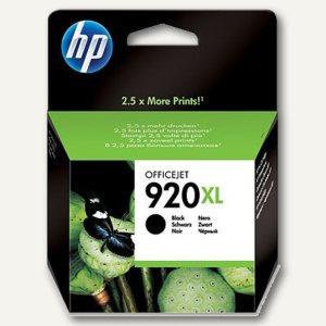 HP Tintenpatrone Nr. 920XL für Officejet 6000, ca. 1.200 Seiten, schwarz, CD975AE