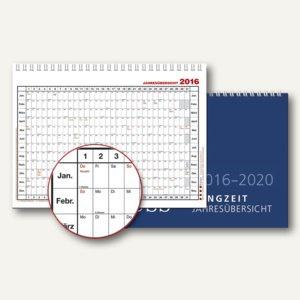 Güss 5-Jahres-Langzeitübersicht, 300 x 200 mm, Karton, 2-farbig, 12-10