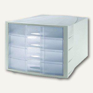 HAN Schubladenbox IMPULS, A4-C4, 4 Schübe, antistatisch, klar, 1010-X-63