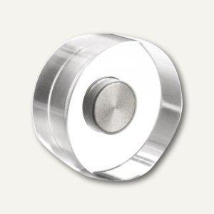 Magnetoplan Neodym-Magnete Design, Ø30 mm, 3 kg, Acryl, transp., 4St., 1680030 - Vorschau