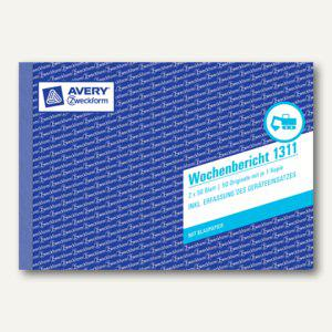 Zweckform Formular Wochenbericht DIN A5 Quer, 2 x 50 Blatt, 1311 - Vorschau