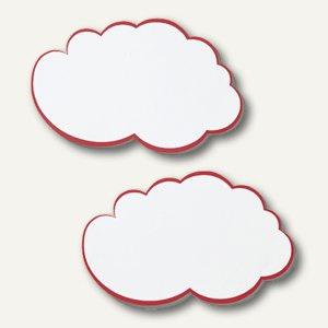 Franken Moderationswolken, 37x62 cm, weiß/roter Rand, 20 Stück, UMZWG