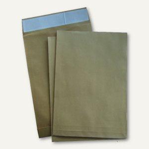 officio Faltentasche C4, 229 x 324 mm, 40mm Falte, haftklebend, braun, 200 St.
