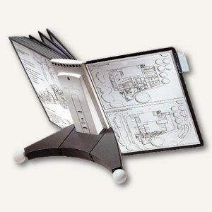 Durable Sichttafelständer SHERPA® TABLE 10, Tischfuß, mit 10 Tafeln, 5632-22