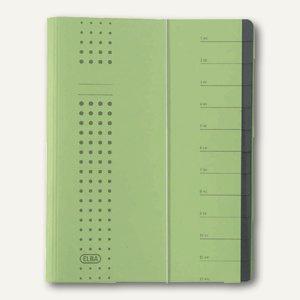 Elba chic-Ordnungsmappe, DIN A4, 12 Fächer, Karton 450 g/qm, grün, 400001994