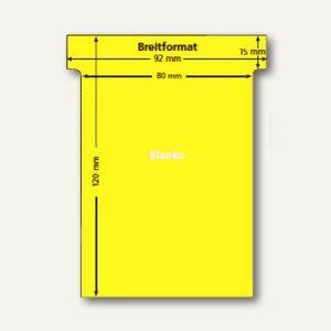 Ultradex T-Karten, blanko, Breitformat, hellgelb, 100 Stück, 541250 - Vorschau