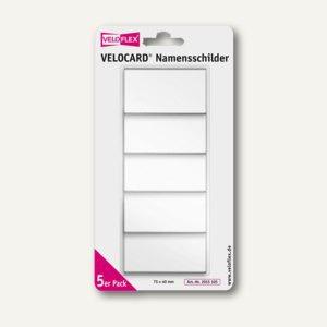 Namensschild VELOCARD, 75 x 40mm, PVC, mit Clip, glasklar, 50 St., 2015105