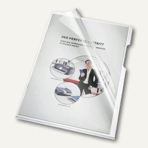 Aktenhüllen DIN A4, oben u. rechts offen, glasklar, 150 my, 100 St., 205000 CL