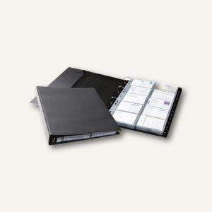 Durable Visitenkartenringbuch VISIFIX® A4 ECONOMY, A-Z-Register, schwarz, 244401
