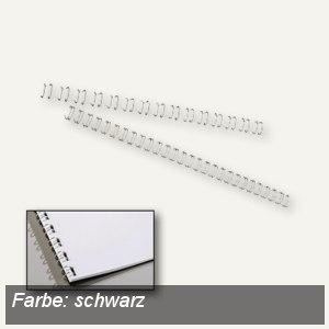 GBC WireBind Drahtbinderücken, 21 Ringe, Ø 12 mm, schwarz, 100 Stück, IB165320