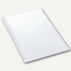 LEITZ Thermobindemappe Leinenoptik, DIN A4, 1.5 mm, weiß, 25 Stück, 177114