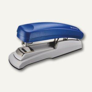 LEITZ Heftgerät 5505 Flat-Clinch, für Klammer 24/6 und 26/6, blau, 5505-00-35