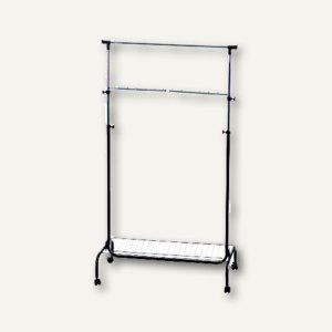 Mobile fahrbare Garderobe, stufenlos höhenverstell., 90x45x121-180cm, 2831