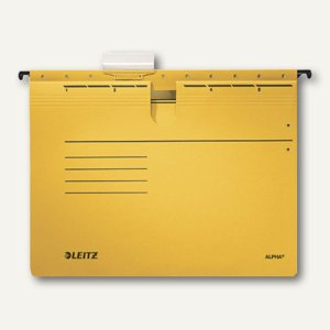 LEITZ Alpha Hängehefter für DIN A4, kaufm. Heftung, gelb, 5 Stück, 1984-30-15