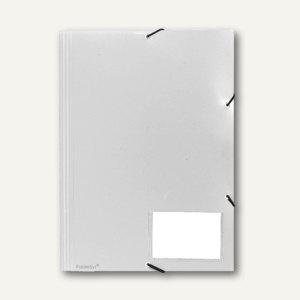 FolderSys Eckspannsammelmappe für DIN A4, PP, weiß, VE 30 Stück, 10006-10