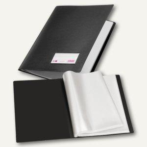 Veloflex Sichtbuch, DIN A4, PP, Sichtfenster, 100 Hüllen, schwarz, 4St., 4400180