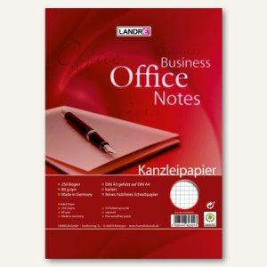 Kanzleipapier BUSINESS OFFICE NOTES, DIN A3 auf A4 gefalzt, kariert, 250 Blatt