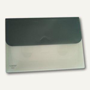 Schubtaschenmappe A4, PP, 4 ausziehbareTaschen, grau, 25 Stück, 70020-37