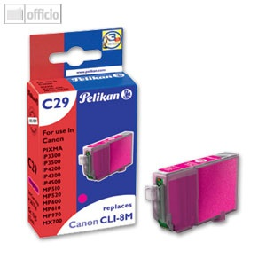 Pelikan Tintenpatrone C29 für Canon CLI-8m, 13ml, magenta, mit Chip, 361714