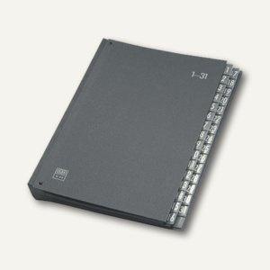 Elba Pultordner DIN A4, 32 Fächer 1-31, Hartpappe, schwarz, 400001962
