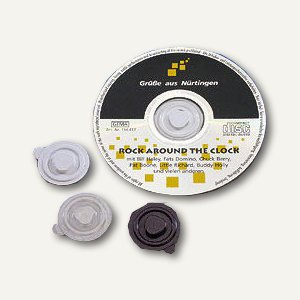 CD Befestigungs-Clips aus Kunststoff, Ø 35mm, transparent, 100 St., 92580-1