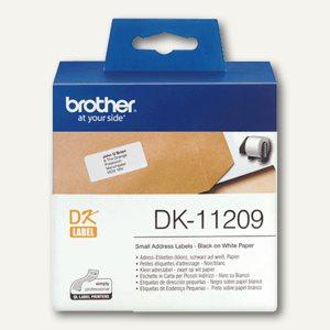 Brother DK Etiketten, Adress-Etiketten klein, 29 x 62 mm, 800 Stück, DK11209