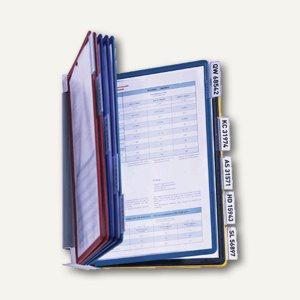 Wandsichttafelsystem VARIO WALL 10, DIN A4, mit 10 Tafeln, farbig sortiert