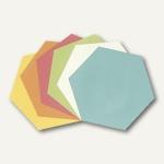 "officio Moderationskarten "" Wabe"", 16.5 x 19 cm, farbig sortiert, 250 Stück"