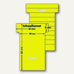 Ultradex T-Karten, blanko, Schmalformat, hellgelb, 100 Stück, 542250