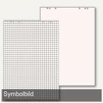 officio Flipchartpapier, weiß holzfrei, kariert/blanko, 5 Blöcke á 20 Blatt
