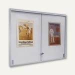 Innen-Plakatschaukasten INTRO - 154 x 97 x 3.5 cm, 21x A4, Alu-Rahmen/eckig