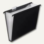 FolderSys 12er Hänge-Fächertasche A4, mit Taben, schwarz, 10 Stück, 70041-30