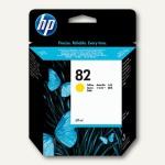 HP Tintenpatrone Nr.82, 69 ml, gelb, C4913A