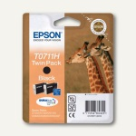 Epson Tintenpatronen T0711H schwarz, Doppelpack, C13T07114H10