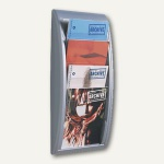 "Wandhalter "" Quick Fit"", 4 Fächer DIN A4, 65 x 29 x 9, 5 cm, aluminiumfarben"