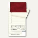 rido-idé Dohse Tischkalender rido-merker, 21 x 12, 4 cm, dunkelrot, 703500327