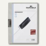 Durable Klemm-Mappe DURAQUICK, DIN A4, bis 20 Blatt, grau, 20 St., 2270-10