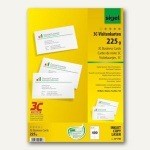 Sigel PC-Visitenkarten 3C, 85x55mm, 225 g/m², hochweiß, 400 Stück, LP796