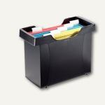 LEITZ Mini-Aktei Hängemappen-Box Plus, inkl. Hängemappen, schwarz, 1993-00-95