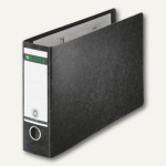 LEITZ Ordner für DIN A4 quer, 230 x 364 mm, Rücken 80 mm, schwarz, 10740000
