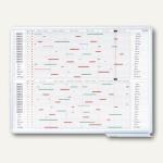 Personalplaner, 120 x 90 cm, 35 Positionen, magnetisch, 12 Monate, SJPC1235