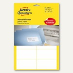 Adress-Etiketten f. Schreibmaschine, DIN A4, 95 x 47 mm, 240 St., 3350