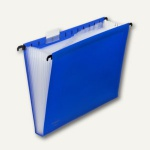 FolderSys 12er Hänge-Fächertasche A4, mit Taben, blau, 10 Stück, 70041-40