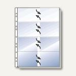 Rexel Visitenkartenhüllen DIN A4 für je 16 Karten, 12 Hüllen, 22303490, 22303490