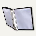 SHERPA® Display System WALL 5, Wandhalterung, mit 5 Tafeln, schwarz, 5810-01
